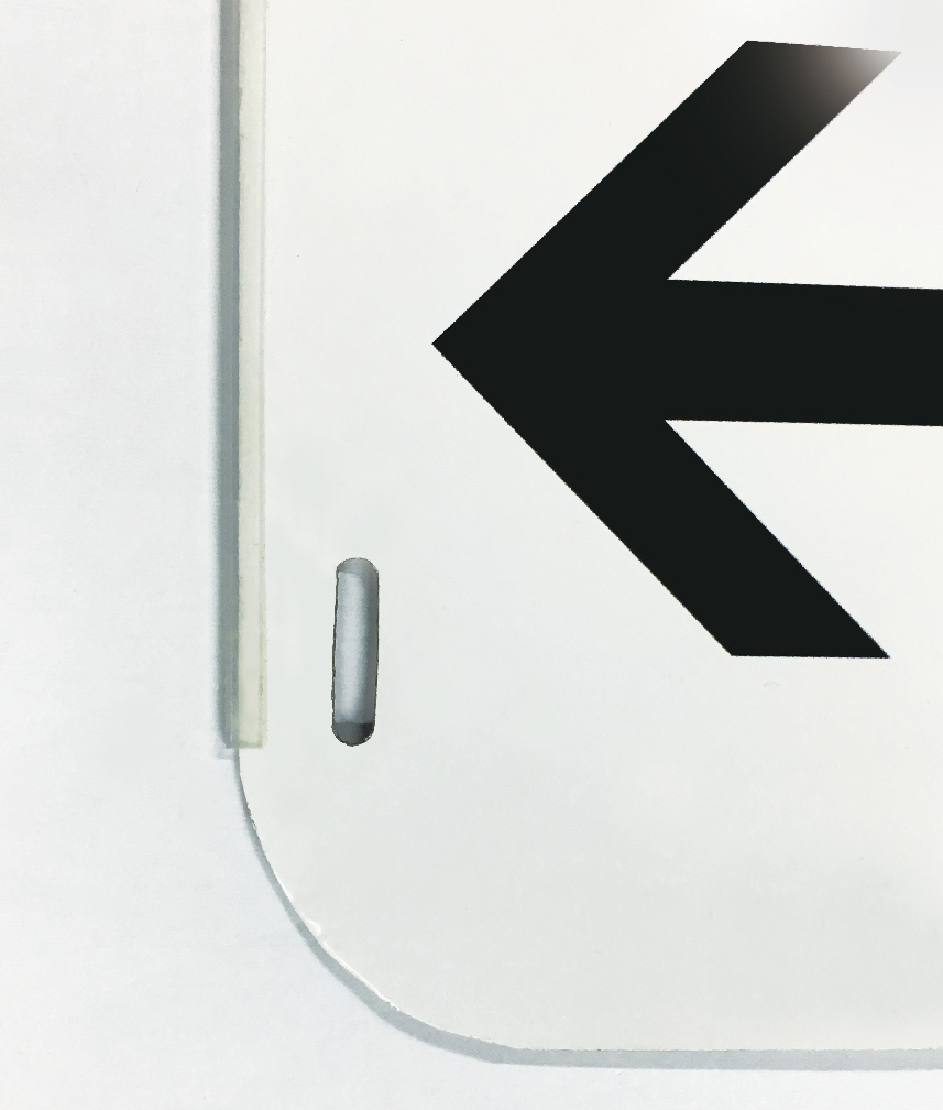 反射アルミ電柱標識